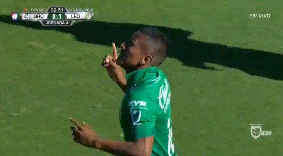 Pedro Aquino anotó con León en goleada sobre Querétaro | VIDEO