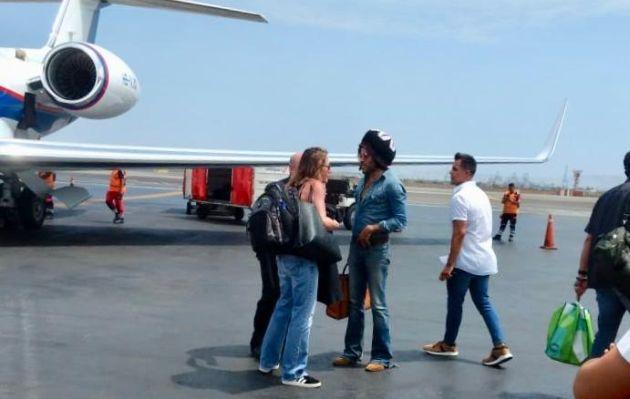 Lenny Kravitz llegó a Lima a bordo de un avión privado