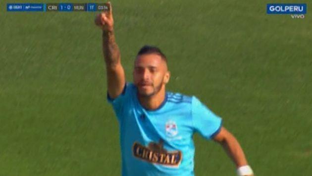Sporting Cristal vs. Municipal: Arce adelantó a los rimenses con gol de vestuario | VIDEO