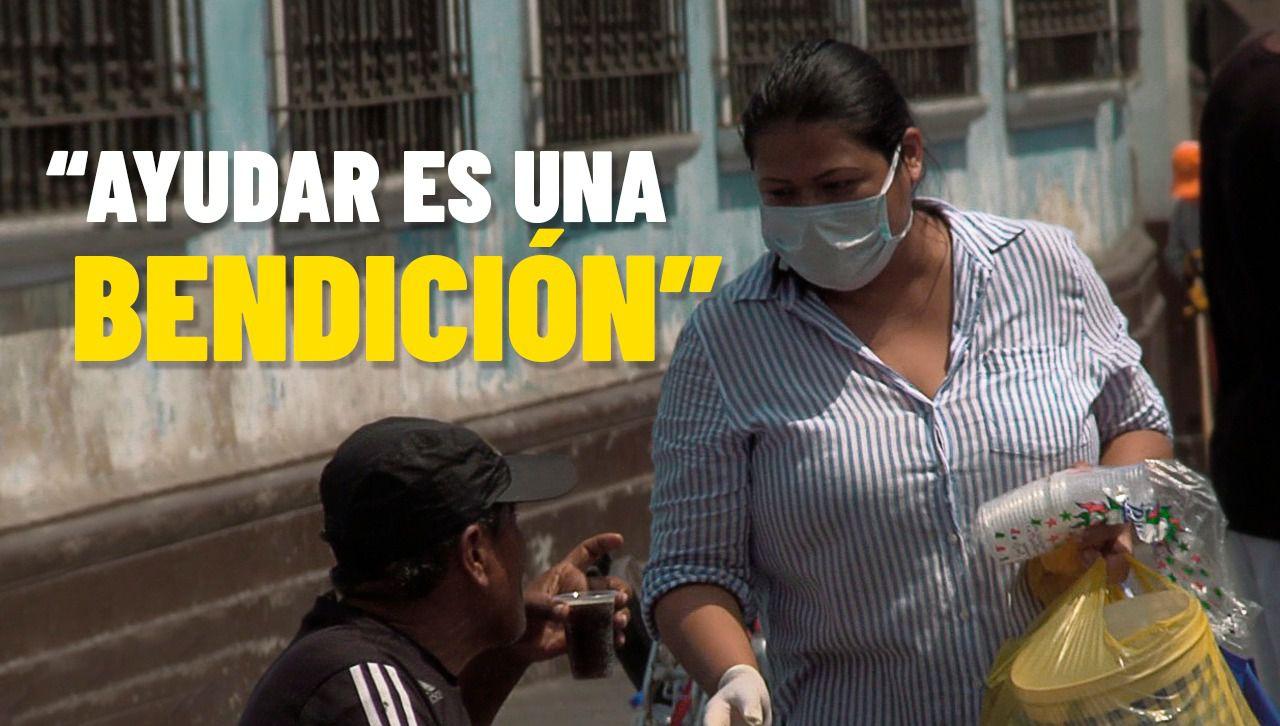 Mujer que alimentó mendigos del Centro de Lima durante cuarentena recibe ayuda para seguir con su noble iniciativa