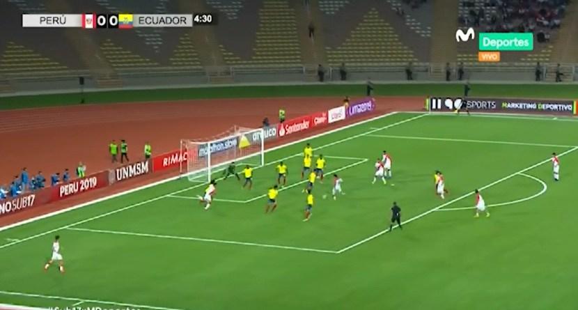 Perú vs. Ecuador: Grimaldo tuvo la primera chance de la Blanquirroja en el Sudamericano Sub 17   VIDEO