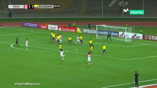 Perú vs. Ecuador: Yuriel Celi marcó golazo y empató el partido por el Sudamericano Sub 17   VIDEO
