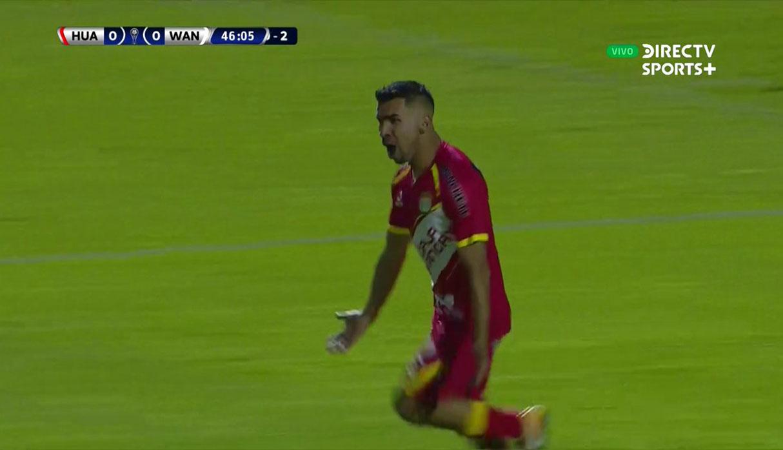 Sport Huancayo vs. Wanderers: gol de Ricardo Salcedo para el 1-0 en Copa Sudamericana | VIDEO