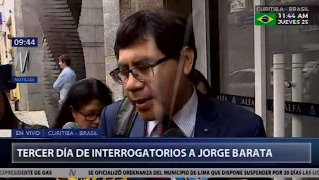 Barata confirmó pago de U$S3 millones a ex gobernador Jorge Acurio