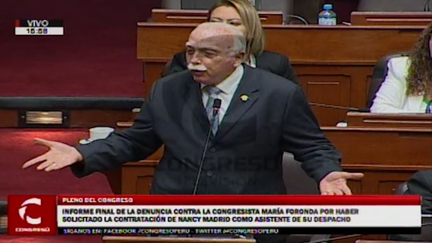 Marco Arana y Carlos Tubino protagonizaron impasse en el pleno del Congreso