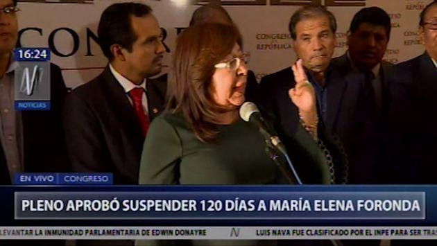 """Frente Amplio: """"Rechazamos categóricamente sanción a María Elena Foronda"""""""