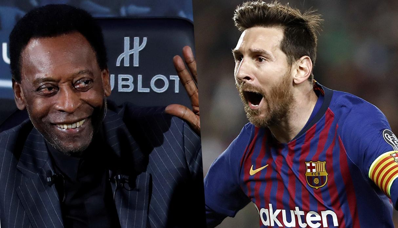 ¿Lionel Messi o Pelé? periodista brasileño abrió debate en Twitter con videos inéditos de 'O Rei'