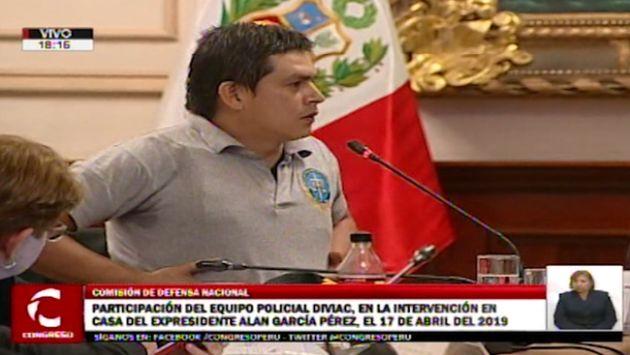 Alan García: Del Castillo tuvo altercado con policía por chaleco antibalas