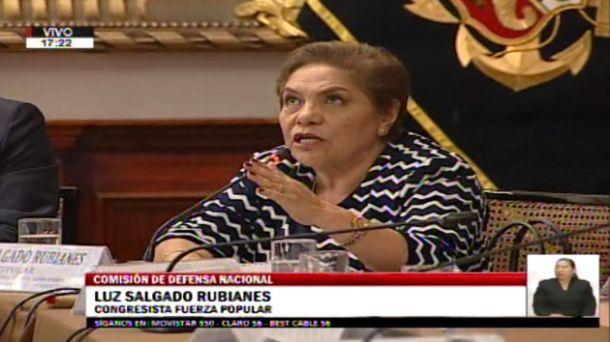 Salgado discutió con Richard Arce en sesión de la Comisión de Defensa