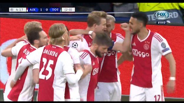 Ajax vs. Tottenham: Matthijs de Ligt anotó de cabeza el 1-0 del partido en Champions League | VIDEO