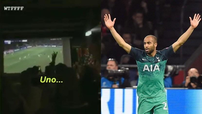 Hinchas de Ajax hacían cuenta regresiva para la final de Champions cuando Tottenham marcó el tercero | VIDEO