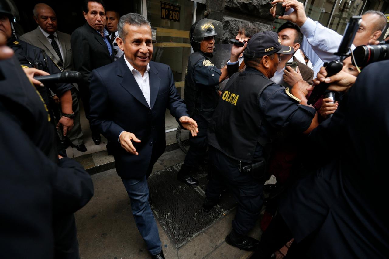 Humala rindió manifestación en la fiscalía por investigación contra Belaunde Lossio