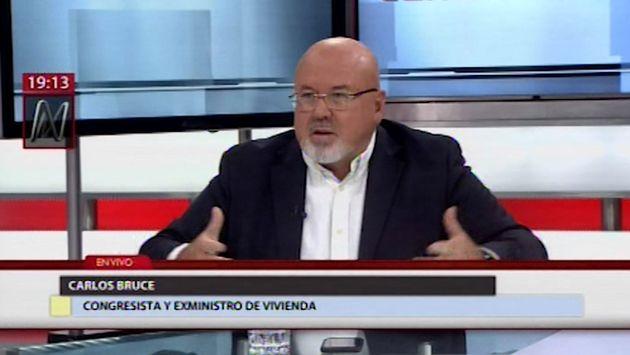 Carlos Bruce: La gente quiere que Vizcarra pase la película y se dedique a otros temas