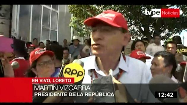 Vizcarra: La población sacará su conclusión por archivo de denuncia del deslacrado