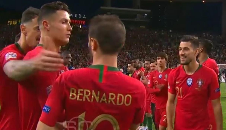 Cristiano Ronaldo y su reacción al no ser elegido mejor jugador de la UEFA Nations League| VIDEO