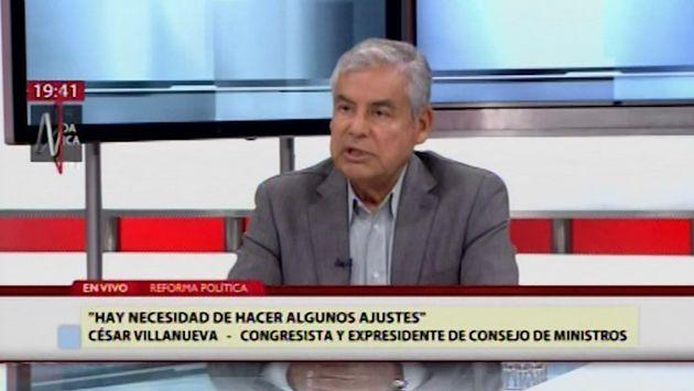 """Villanueva: Los proyectos de reforma política necesitan """"algunos ajustes"""""""