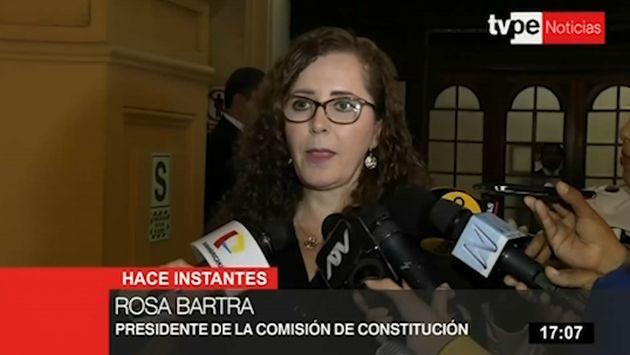 Bartra pide a Del Solar respetar decisión del Congreso sobre Pedro Chávarry
