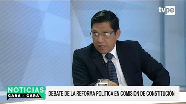 Zeballos: Hace 15 años se viene debatiendo una reforma, pero faltaba voluntad política