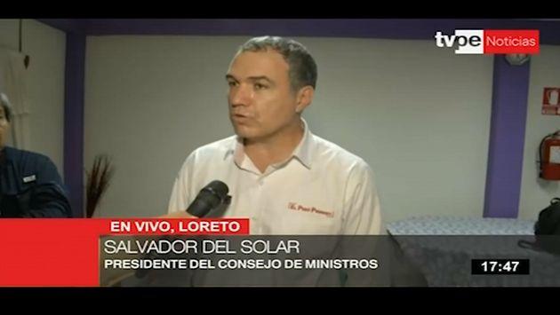 Del Solar sobre popularidad de Vizcarra: Es síntoma de que la gente quiere reformas