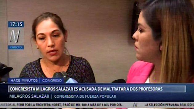 """Salazar sobre incidente en Comisión de Educación: """"Cometieron falta de respeto"""""""