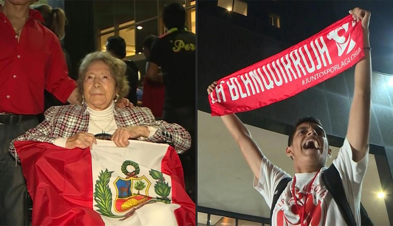 Perú vs. Venezuela: hincha más longeva de la bicolor estuvo en el banderazo en Porto Alegre