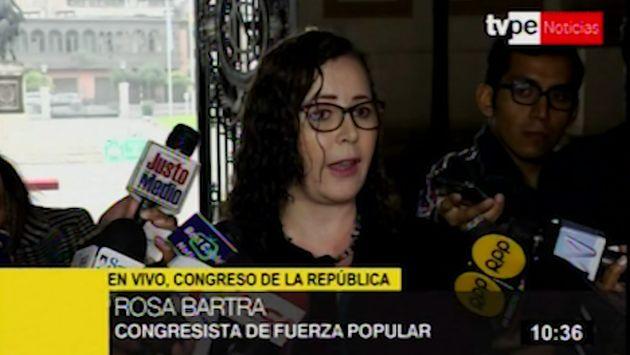 Rosa Bartra: Es innecesario que Martín Vizcarra hable de posibilidades constitucionales