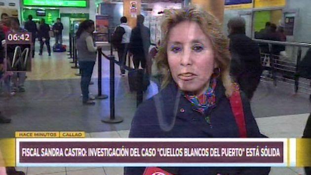 Fiscal Castro sobre investigación de Los Cuellos Blancos: 'Es sólida'