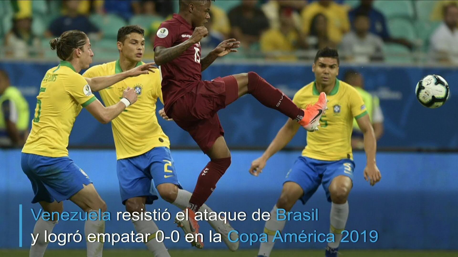 Venezuela y el VAR frenan al favorito Brasil