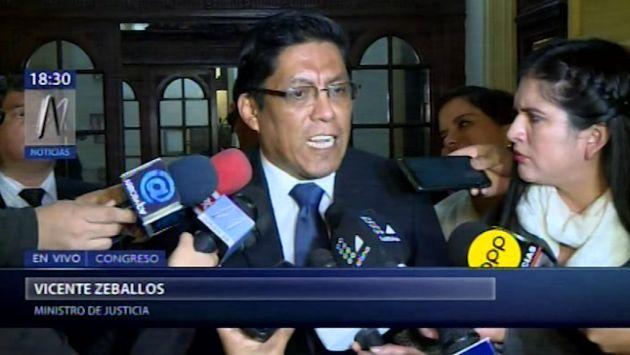 """Zeballos: Esperamos que el Congreso """"honre"""" el compromiso que asumió con la reforma"""