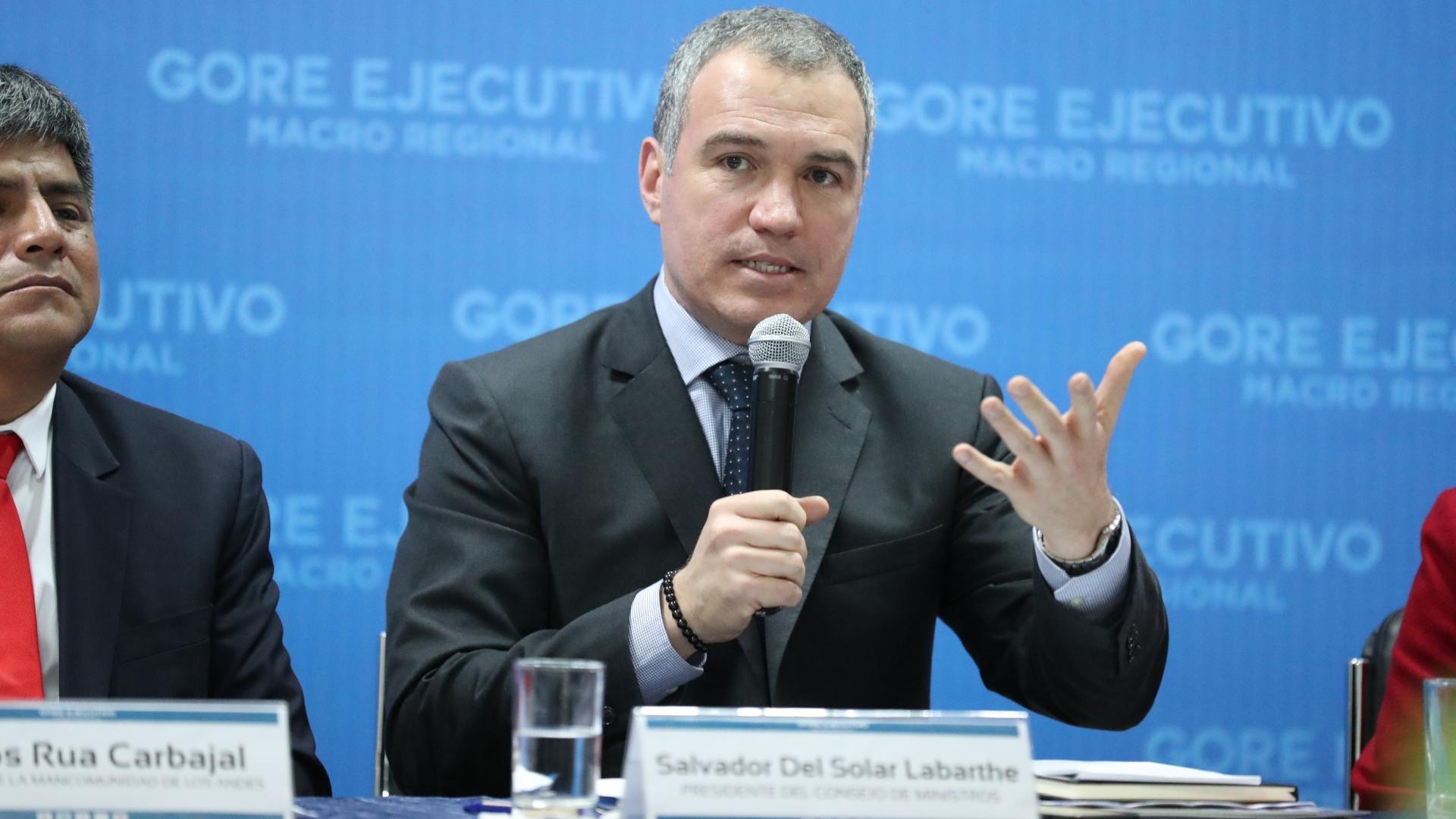 Del Solar propone que gobernadores regionales tengan sitio en Consejo de Ministros