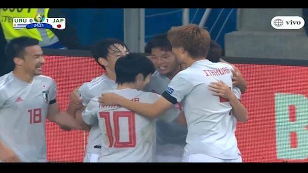 Uruguay vs. Japón: Miyoshi sorprende y anota el 1-0 para los nipones en Copa América 2019 | VIDEO