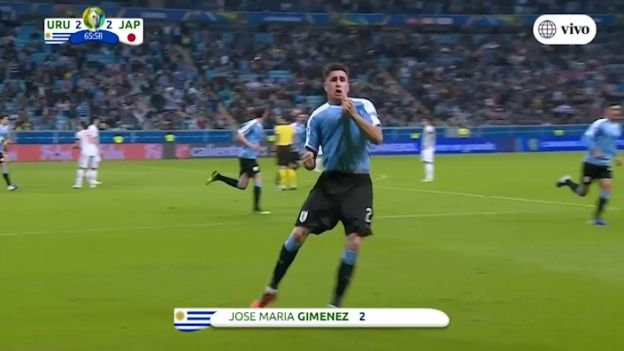 Uruguay vs. Japón: Giménez puso el 2-2 en el Arena do Grêmio | VIDEO