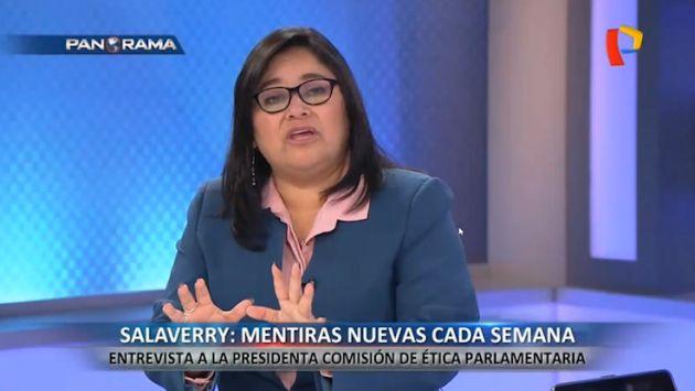 Sánchez: No puedo permitir que Salaverry ponga en duda el trabajo de la Comisión de Ética