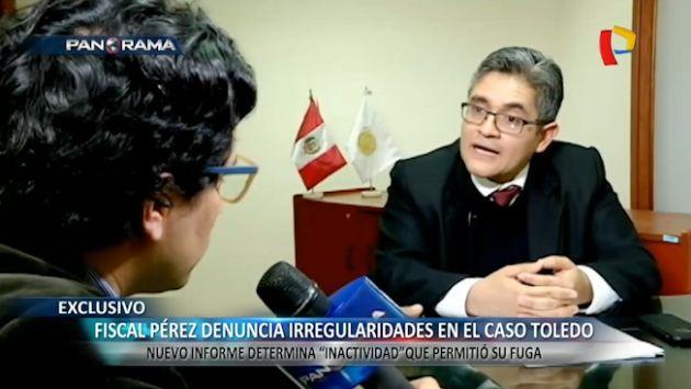Fiscal Pérez denuncia inactividad que permitió que Alejandro Toledo saliera del país