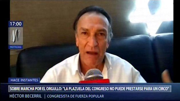 """Becerril sobre Marcha del Orgullo: """"El Congreso no puede prestarse para un circo"""""""