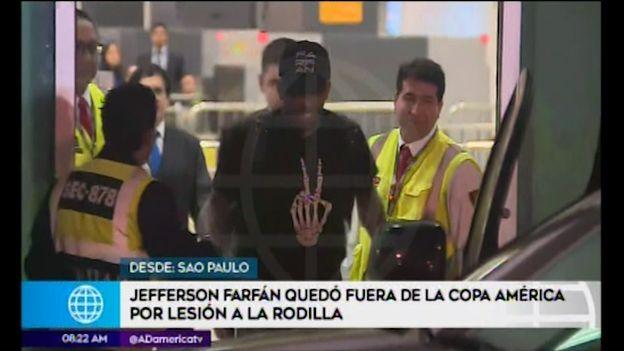 Jefferson Farfán llegó a Lima tras quedar fuera de la Copa América 2019 | VIDEO