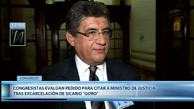 Congresistas a favor de citar a Zeballos tras excarcelación de sicario