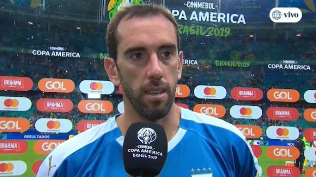 """Diego Godín lamenta eliminación de Uruguay ante Perú en la Copa América: """"Tenemos tristeza y amargura"""""""