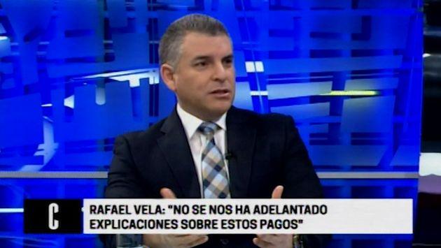Rafael Vela: Hace tres semanas recibimos información sobre pagos en el Gasoducto
