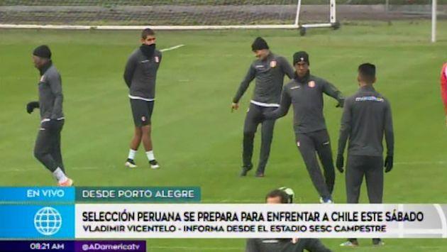 Selección peruana realizó entrenamientos en Porto Alegre con temperatura de 8 grados | VIDEO