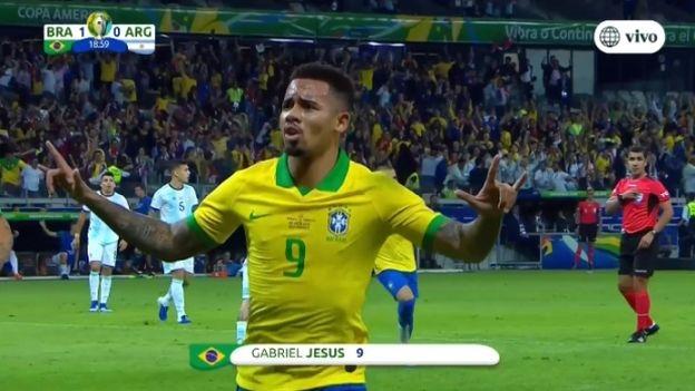 Argentina vs. Brasil: Gabriel Jesus anotó el 1-0 en la semifinal de la Copa América 2019 | VIDEO