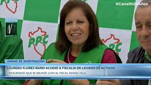 Lourdes Flores Nano acudió la fiscalía de lavado de activos este viernes