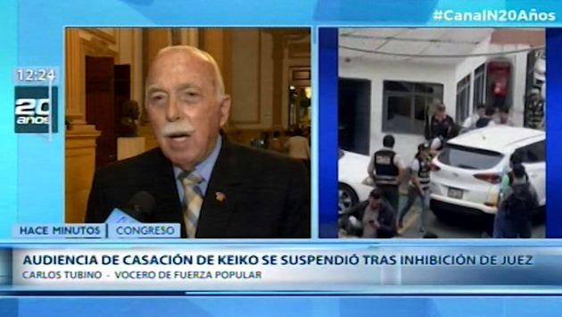 Tubino tras suspenderse audiencia de Keiko Fujimori: 'Hay una gran frustración por todo esto'