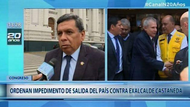 Congresistas a favor de impedimento de salida del país contra Luis Castañeda