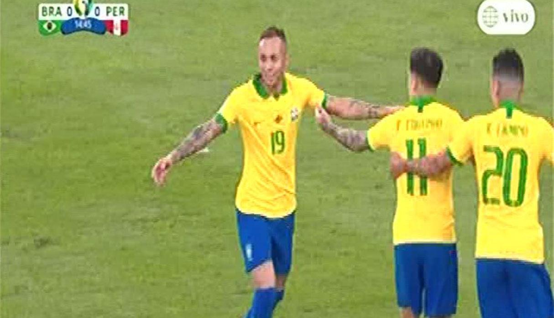 Perú vs. Brasil: Gol de Everton para el 1-0 de la 'Canarinha' en el Maracaná   VIDEO