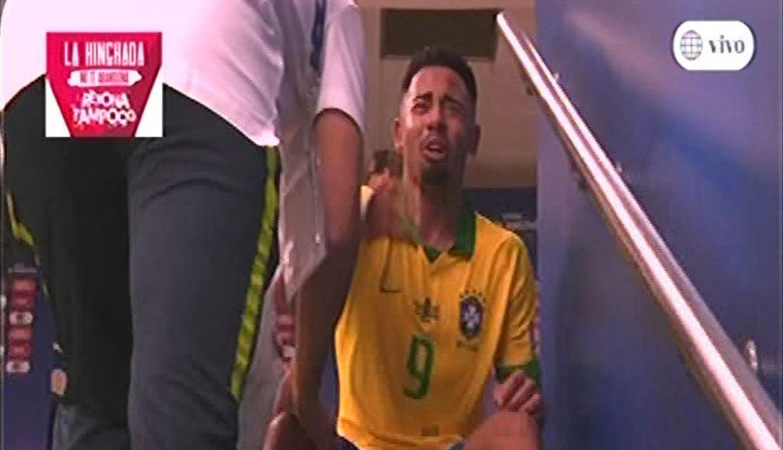 Perú vs. Brasil: Gabriel Jesús llora de manera desconsolada tres ver la roja | VIDEO