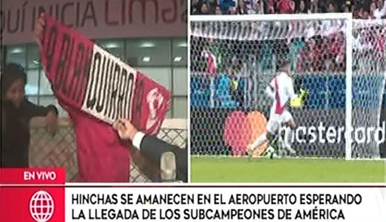 Cientos de hinchas recibieron a la selección Peruana tras su aterrizaje en Lima | VIDEO