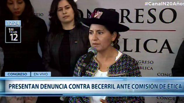 Nuevo Perú respalda denuncia de Ética contra Héctor Becerril por 'discriminación'