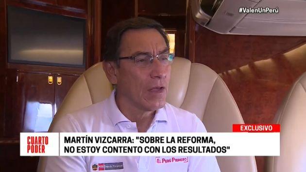"""Vizcarra sobre avances en la reforma política: """"No estoy contento con los resultados"""""""