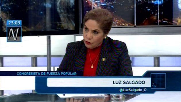 Salgado: 'Vizcarra siempre nos pone contra la pared, pese a lo que nos dice el premier'